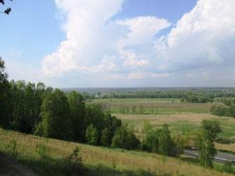 Blick vom Czcibor Berg in Richtung Oder