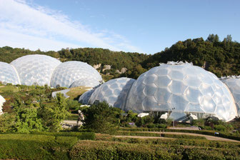 Gewächshäuser im Eden Project