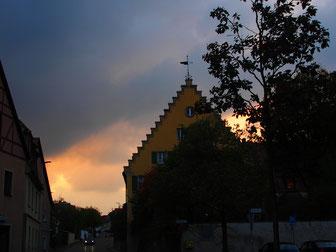 Abendhimmel über Ansbach