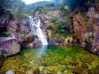 Yellow Dragon waterfall hike Hong Kong