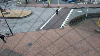 八街駅南口 ロータリーの安全対策(対策前)