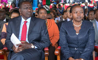 William Ruto, vicepresidente del Kenya con la moglie Rachel