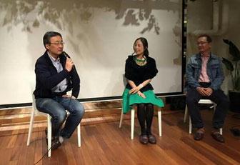 左より:渋澤健さん、菊池、前野隆司さん