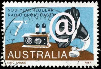 Briefmarke als newsletter Symbol contxt content