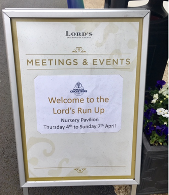 #CWC19 - Welcome to the Lord's Run Up