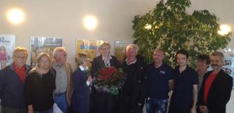 Die Taufkirchner SPD-Mitglieder mit Rosi Weber am Wahlabend