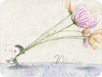 "Illustration Francesca Quatraro. Carte de la collection ""Les Pépites""."