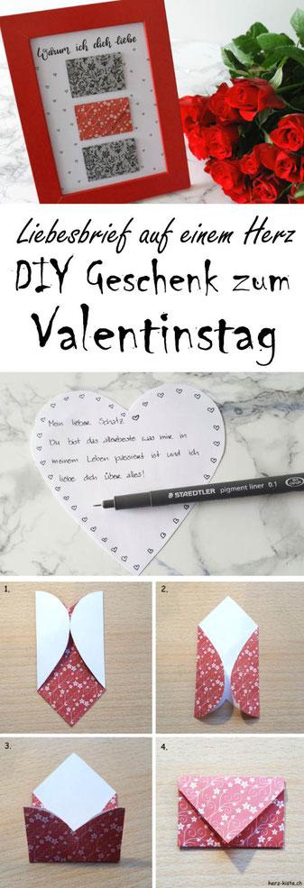 Arten Briefe Zu Falten : Geschenk zum valentinstag bild mit briefumschlägen aus