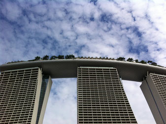 Marina Bay Sands Hotelの裏