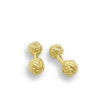 goldene Maschettenknöpfe Knoten