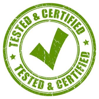 Qualitäts-Nachweis, Qualitäts-Siegel, Zertifizierung, Nachweisbare Qualität