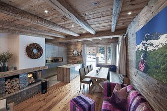 Wohnküche Chalet EDELWEISS, Selbstversorgerhaus mit Sauna