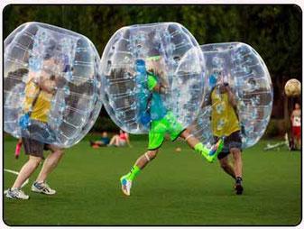 Una partida de bubble fútbol en tenerife