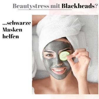 Schwarze Masken gegen Mitesser