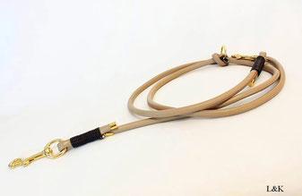 Wickelarmband aus Schlangenleder mit hochwertig vergoldetem Verschluss