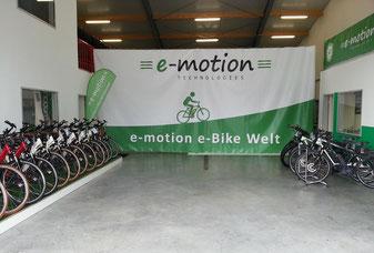 Die e-motion e-Bike Welt in München West