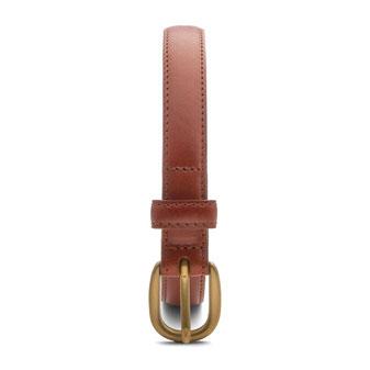 schmaler Damengürtel cognac 2cm