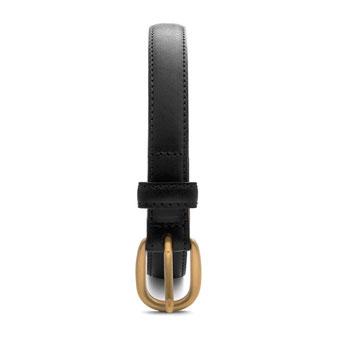 schmaler Damengürtel schwarz 2cm