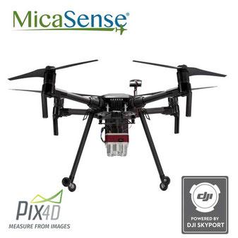 Los drones DJI son idóneos para cámaras multiespectrales Micasense para profesionales en análisis de cultivos