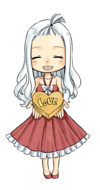 Mirajane de Fairy Tail. Tweet d'Hiro Mashima pour la St Valentin 2018