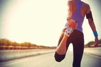Läuferin im Training/Wettkampfvorbereitung