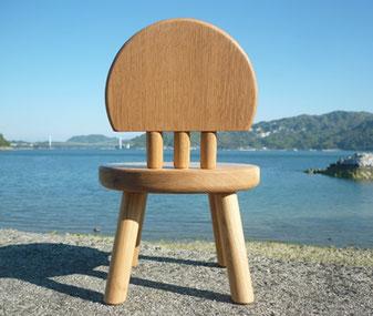 まぁーるい子ども椅子