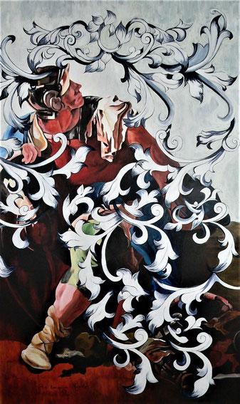N° 58 - Acrylique/toile - 195 x 114