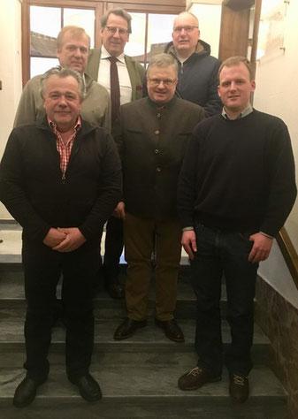 06. März 2018: J. Baumann (vorne 2. von links), R. Lechner (hinten 1. von links), J. Nesges (vorne 1. von links), K. Olschewski (vorne 1. von rechts),  F. Freiherr Riederer von Paar (hinten 2. von links), U. Rothweiler (hinten 1. von rechts),
