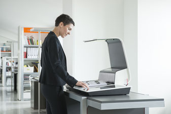 Buchscansystem für den Büroalltag