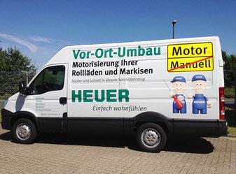 Markisenumrüstungen Vor-Ort-Umbau - sauber und schnell - HEUER Hannover / Langenhagen