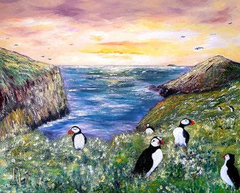"""""""GENESE"""" Peinture Régine Le Maout Rlm"""