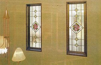 ばら・デザインのステンドグラス