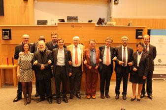 Orateurs du Colloque organisé le 6 octobre 2016 au Parlement de la Fédération Wallonie-Bruxelles