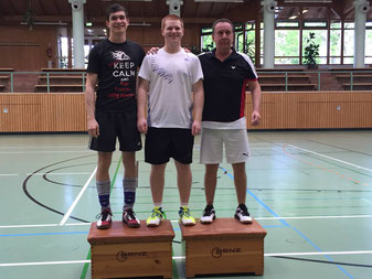 Matthias Kroll Badminton VfL Gemmrigheim Vereinsturnier Tripple