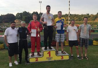 Siegerehrung Herreneinzel 2. Platz Matthias Kroll (3.v.l.)