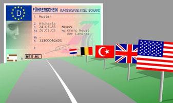 Kontrollfahrt, ausländischer Führerausweis, Fahrstunden