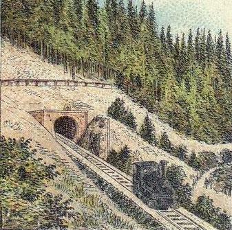 Westliches Portal des Bismarcktunnels