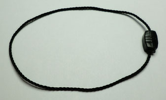 Marchamos Textiles 195mm Polyester Negro - 007A33BK