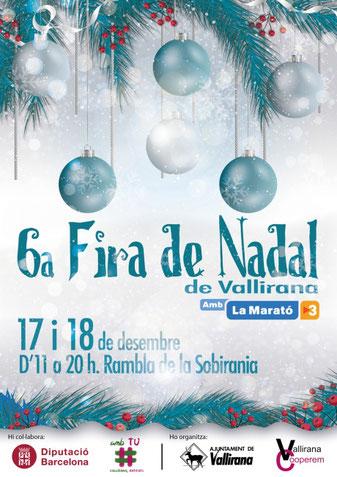Programa de la Fira de Nadal en Vallirana