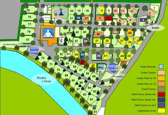 Plan Camping Gers Arros 2021