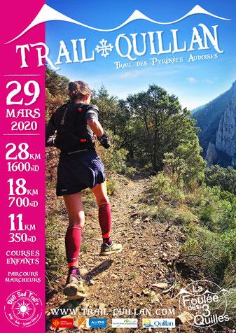 Affiche Trail Quillan 2020