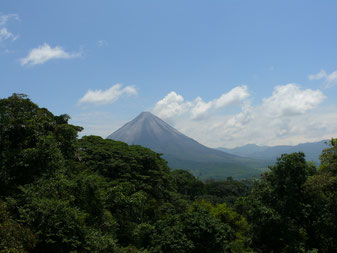 Arenal Volcano view from the hanging bridges