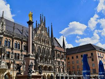 Marienplatz, place principale de Munich, Bavière