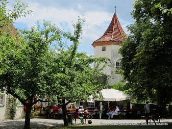 La cour du château de Blutenburg à Munich