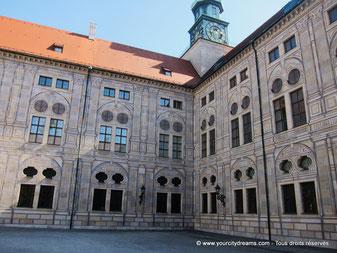Une des cours intérieures de la résidence de Munich