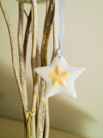 Bougeoir parallépipède étoilé Or pour Noël