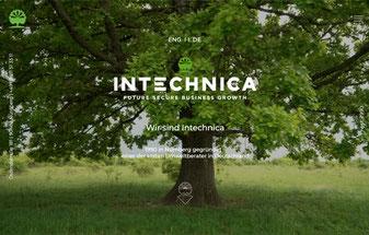 Titel der deutschen Website des Nachhaltigkeitsberaters Intechnica