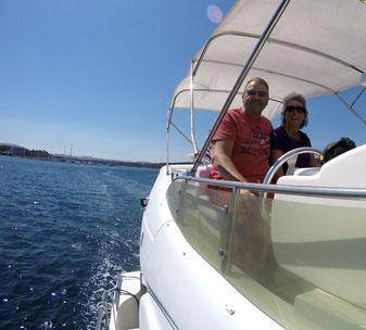 Schweizer Skipperpaar Alexander und Barbara