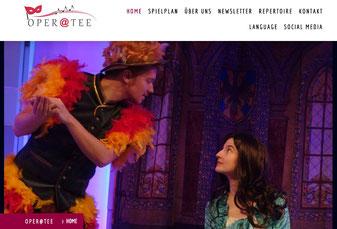 Ensemble Oper@Tee  - Webseite