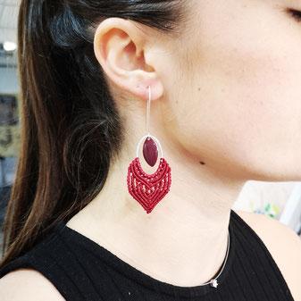 Boucles d'oreille motif aztèque